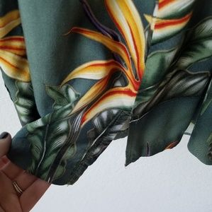Paradise Found Dresses - Paradise Found Green Wrap-Style Hawaiian Dress - M